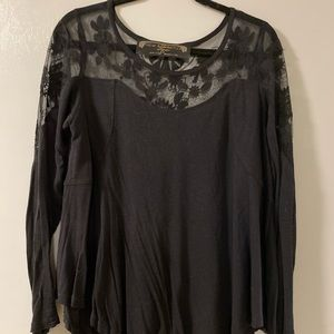 Flowy Free People top with mesh detail